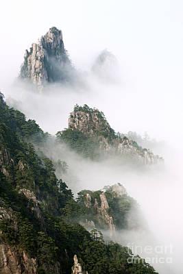 Anhui Photograph - Huangshan Mountain Landscape by King Wu