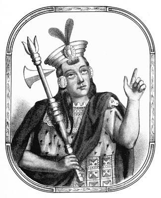 Huayna Capac, Sapa Inca, Incan Empire Art Print by British Library