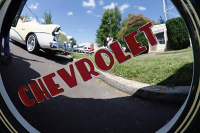 Hub Cap View Art Print by Cyrel Moore