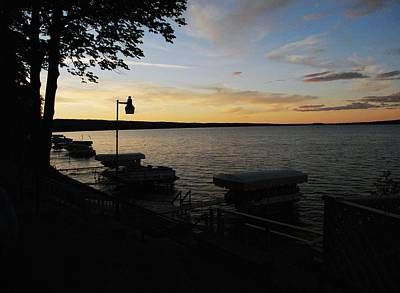 Hubbard Lake Sunset Art Print by Gary Wonning