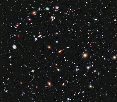 Galaxies Photograph - Hubble Extreme Deep Field by Celestial Images