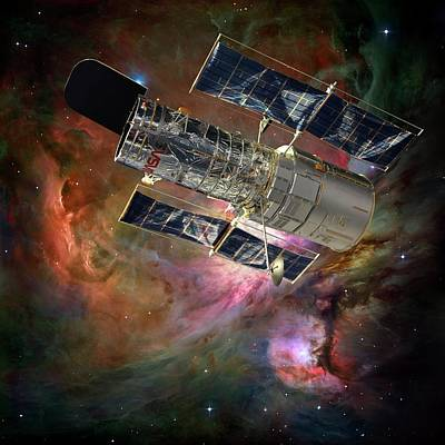 Hubble Space Telescope Photograph - Hubble Space Telescope by Nasa,esa, M. Robberto (space Telescope Science Institute/esa) And The Hubble Space Telescope Orion Treasury Project Team/detlev Van Ravenswaay