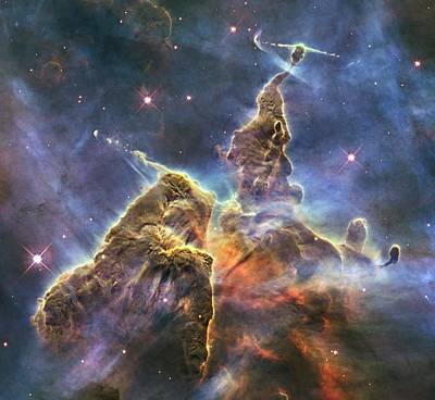 Photograph - Hubble's Fantasy Mountaintops  by Barry Jones