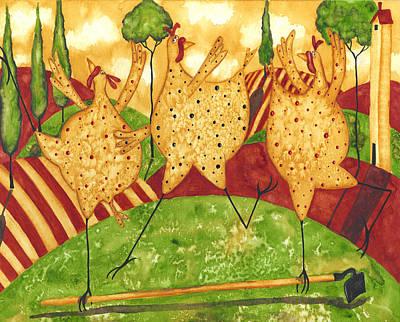 Tuscan Hills Painting - Bird Brained Boogie by Debi Hubbs