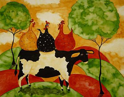Tuscan Hills Painting - Gossip by Debi Hubbs