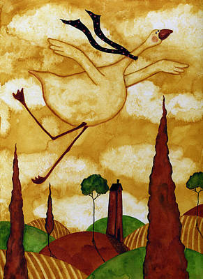 Tuscan Hills Painting - Soaring In Style by Debi Hubbs