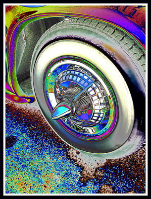Digital Art - Hubcap And Whitewall Vintage  by Expressionistart studio Priscilla Batzell