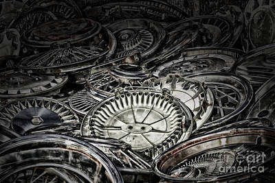 Photograph - Hubcaps by Jim Crawford