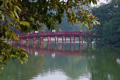 Kiem Photograph - Huc Bridge Over Haan Kiem Lake, Hanoi by Keren Su