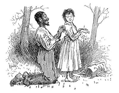 African-american Drawing - Huckleberry Finn, 1885 by Granger