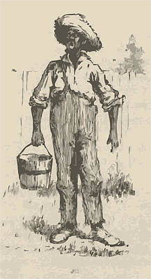Huckleberry Finn Illustration Art Print by