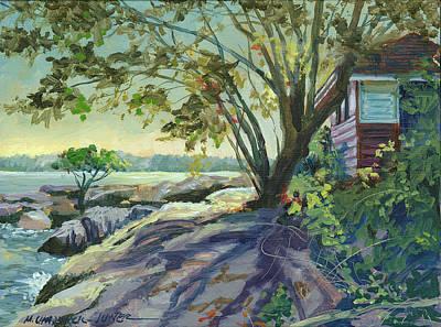Huckleberry Island Backlight Art Print by Marguerite Chadwick-Juner