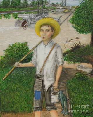 Tom Boy Painting - Huckleberry Finn by Larry Lamb