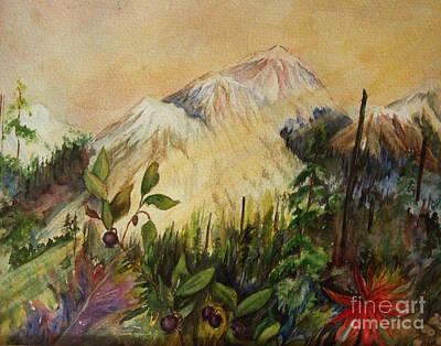 Huckleberry Mtn Art Print by Mary Tevebaugh