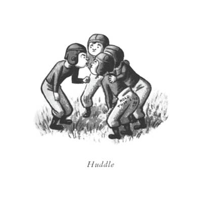 Sports Drawing - Huddle by William Steig