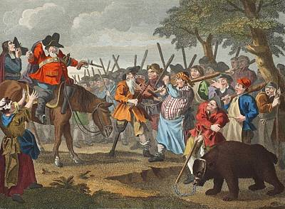 Hudibras First Adventure, From Hudibras Print by William Hogarth