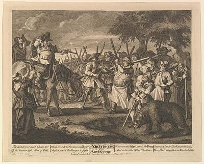 Hudibrass First Adventure Twelve Large Art Print by William Hogarth