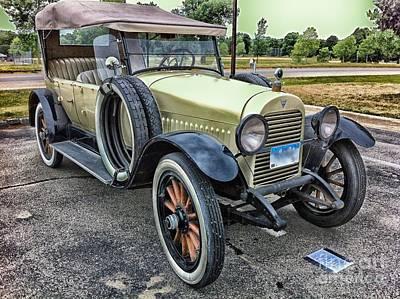 Art Print featuring the photograph hudson 1921 phaeton car HDR by Paul Fearn