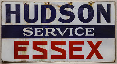 Digital Art - Hudson Essex Service Station Sign by Chris Flees
