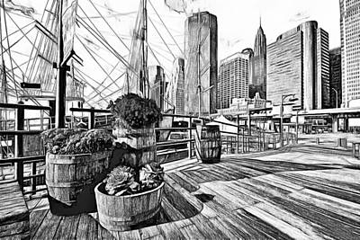 Hudson Harbor Art Print by Yury Malkov