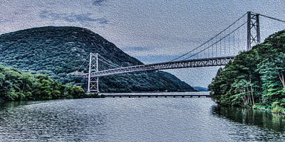 Photograph - Hudson Highland Suspension Bridge by David Hahn