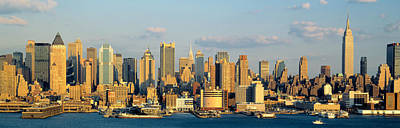 Highrises Photograph - Hudson River, City Skyline, Nyc, New by Panoramic Images