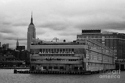 Hudson River Marine Aviation Pier 57 New York City Print by Joe Fox