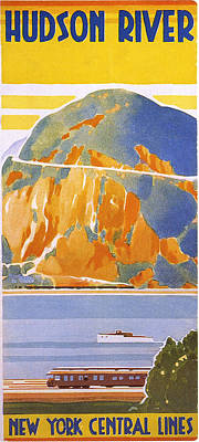 Hudson River Print by Georgia Fowler