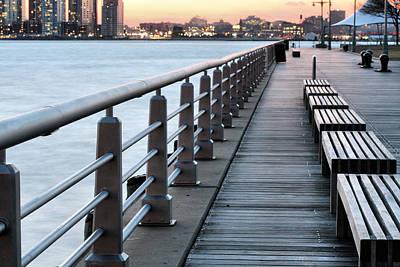 Park Benches Photograph - Hudson River Park by JC Findley