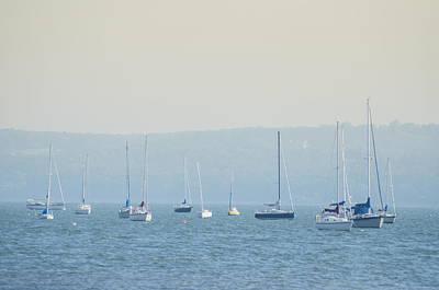 New York Photograph - Hudson River Sailboats - Nyack New York by Bill Cannon