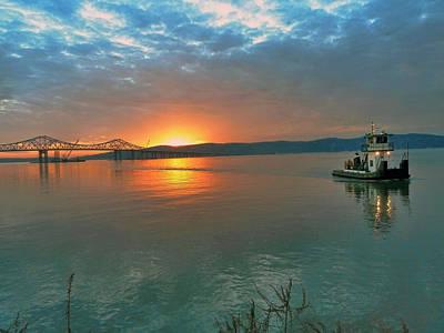 Hudson River Sunset Art Print by Jeffrey Friedkin