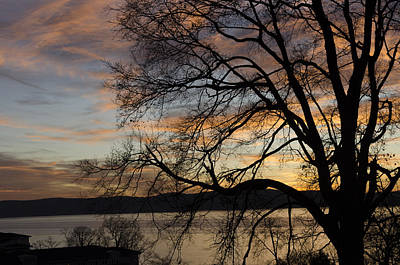 Photograph - Hudson River Winter Landscape At Sunset by Marianne Campolongo