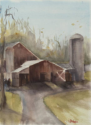 Painting - Hudson Valley Farm by Lynne Bolwell