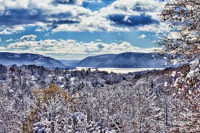 Hudson Valley First Snow Mystic Colors Art Print