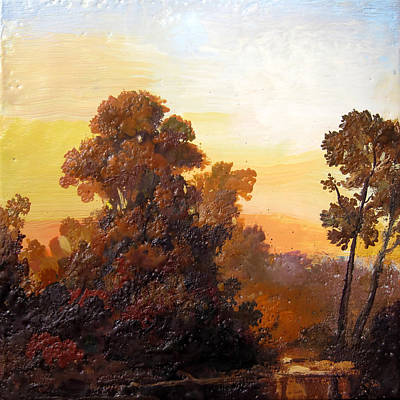 Painting - Hudson Valley Sunset by Keith Gunderson