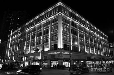 Book Quotes - Hudsons Bay Store at Night Vancouver by John  Mitchell