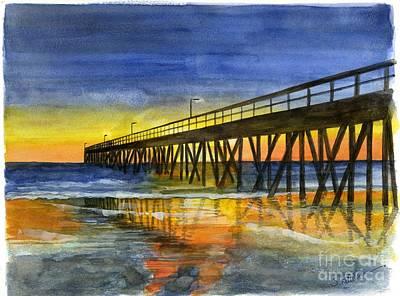 Hueneme Pier At Sunset Original by Sheryl Heatherly Hawkins