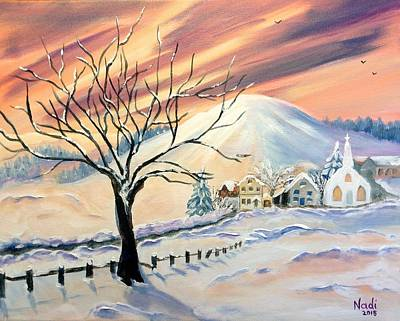 Painting - Hues Of Winter by Renate Nadi Wesley