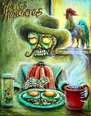 Mexican Painting - Huevos Rancheros by Heather Calderon