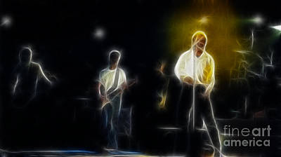 Huey Lewis Photograph - Huey Lewis-ge7-fractal by Gary Gingrich Galleries