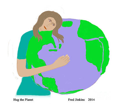 Hug The Planet Art Print