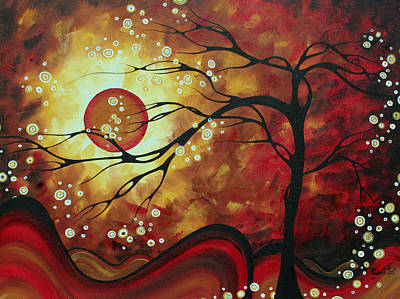 Brilliant Painting - Huge Abstract Art Original Bold Painting Sweeping Tendrils By Madart by Megan Duncanson