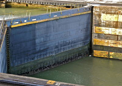 Photograph - Huge Gates In The Panama Canal by Kirsten Giving