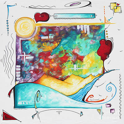 Painting - Huge Original Pop Art Style Painting Unique Fun Colorful Art By Megan Duncanson by Megan Duncanson