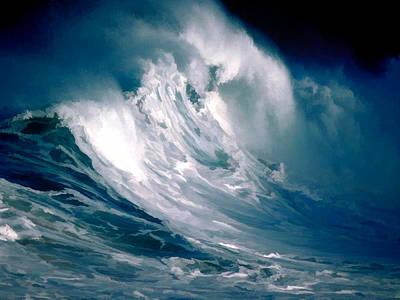 Huge Rogue Ocean Wave Art Print by Elaine Plesser