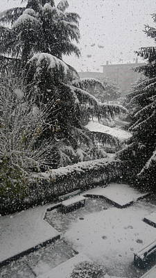 Photograph - Huge Snowflakes by Giuseppe Epifani