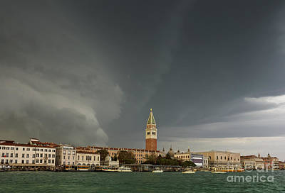 Raging Photograph - Huge Storm At The Grand Canal In Venice by Kiril Stanchev