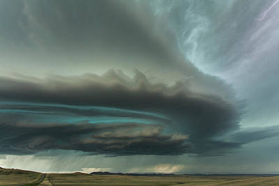 Twirl Photograph - Huge Supercell by Guy Prince