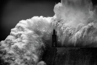 Coastal Landscape Photograph - Hugging The Lighthouse by Alfonso Maseda Varela