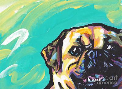 Dog Art Painting - Huggle A Puggle by Lea S
